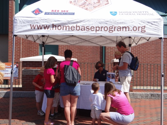 Home Base Tent in Hadlock Field Plaza.