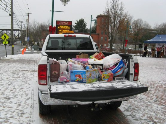 We filled a pick up truck from Southern Maine Motors with toys for the Toys for Tots program.